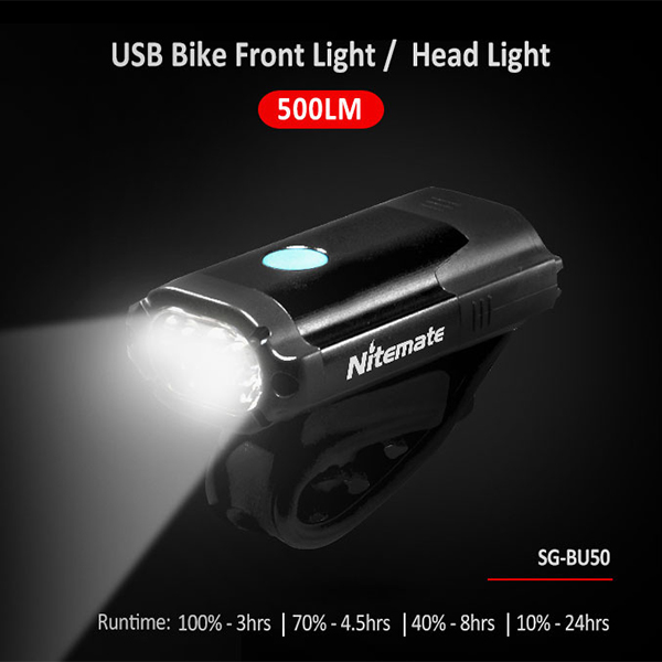 Powerful rechargeable bike Light, waterproof LED road bike light