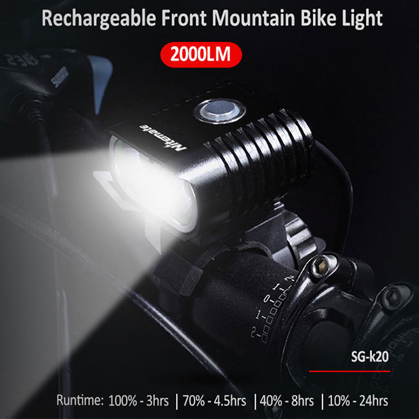 Hot sale brightest mountain bike light, LED bike head lightt