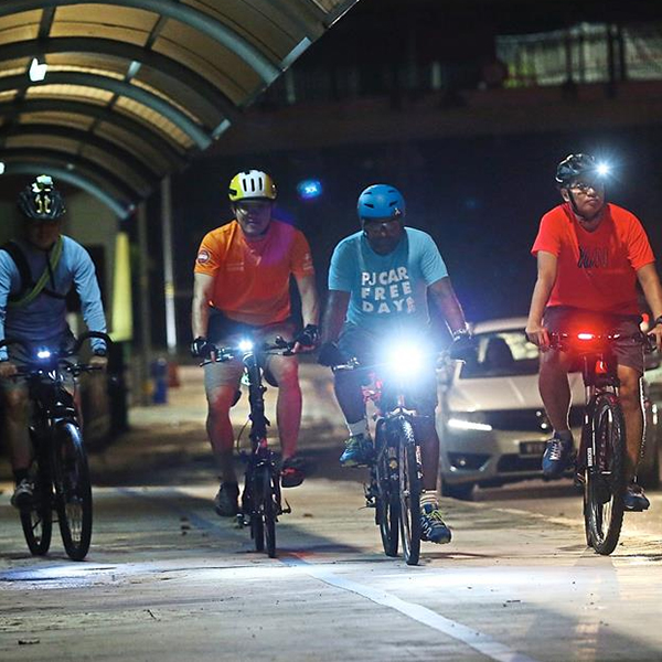 bicycle lights for night-riding
