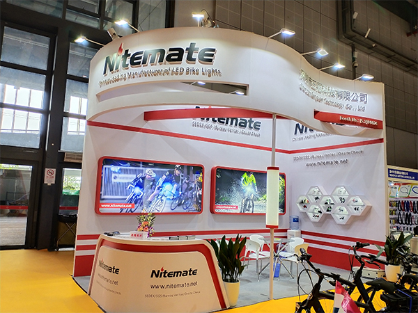 The bicycle light factory in the Shanhai bicycle show!